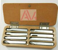 8mm HSS Lathe Form Tools Set 8 Pieces Set Square Shank wooden box