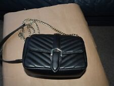 Ladies Small Black Quilted TOPSHOP Shoulder/Cross body Bag