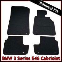 BMW 3-Series E46 Convertible 1998-2006 Tailored Carpet Car Floor Mats BLACK