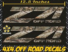 Z71 Offroad Decals (Set) REAL TREE CAMOUFLAGE for Chevrolet Silverado CAMO CHEVY
