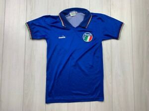 ITALY HOME FOOTBALL SHIRT 1992/1993 VINTAGE JERSEY DIADORA SIZE YOUTH L