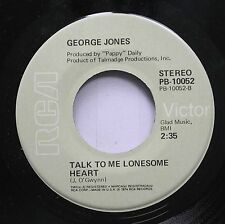 Country 45 George Jones - Talk To Me Lonesome Heart / I Can Love You Enough On R