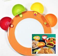 Dip-Schalen mit Clip für Tellerrand, 4er-Set in 4 Farben, Dip Clips, Küche aa102