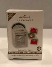 Letters For Santa ~ magic mailbox ~ 2010~ Hallmark ~MIB