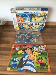 Pokemon Ravensburger Bumper Puzzle Pack 2 X 100 Jigsaw Puzzle **READ**