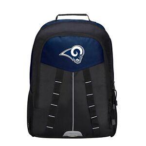 """Football Los Angeles LA Rams BackPack School Bag Navy  18"""" x 5"""" x 12.5"""" Licensed"""