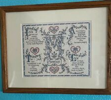 MARRIAGE Calligraphy Original Art by Lynn M. Parker Wood Framed and Matted