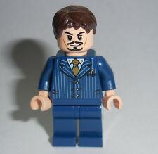 IRON MAN Lego Tony Stark Blue Suit NEW Custom Genuine Lego Parts Super Hero #1