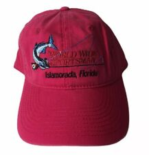 Bass Pro Shops Hat Pink World Wide Sportsman Islamorada FL Florida Fishing NWOT