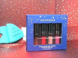 Sephora Collection Mini Cream Lip Stain Set, 0.04 oz. Each X 4, NIB Limited Ed