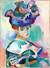 """Henri Matisse CANVAS PRINT Woman with Hat Painting poster 24""""X16"""""""