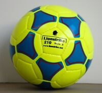 Lionstrike Lightweight Leather Football size 3 Yellow - for children ages 3-7yrs