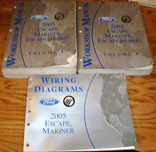 2005 Ford Escape Mariner Hybrid Shop Service Manual Vol 1 & 2 + Wiring Diagram