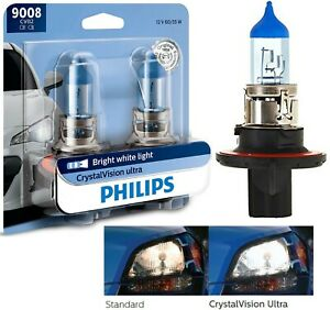 Philips Crystal Vision Ultra 9008 H13 60/55W Two Bulbs Head Light High Low Beam