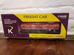 5 K-Line S Gauge Freight car lot. NOS NIB!!