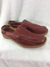 Born Concept Red Slip On Mules Women's Shoes Size 7.5 M/W Nice Preowned