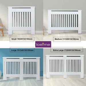 White Radiator Cover White Painted Cabinet-MDF Wood Small, Medium, Large, XL New
