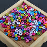 200X Mixed Color Flat Round Acrylic Alphabet/Letter Spacer Loose Beads A-Z 4*7MM