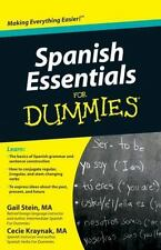 Spanish Essentials for Dummies by Mary Kraynak and Gail Stein (2010, Paperback)