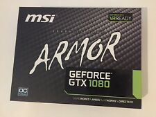 NEW BOXED MSI ARMOUR NVIDIA GTX1080 OC 8GB GDDR5 GAMING GRAPHICS CARD