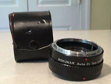 ROKUNAR for CANON FD Auto 2X Tele-Converter Pancake Lens 4E/MC C/FD w/ Case