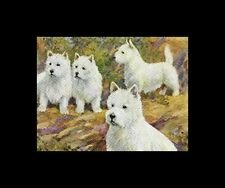 West Highland White Terrier - Vintage Color Dog Print - MATTED