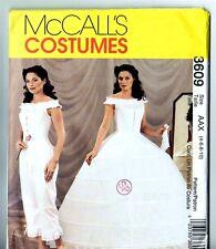 McCalls 3609 Victorian Civil War Era Petticoat Costume Gown PATTERN Sz 4 6 8 10