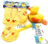 Yellow Bathtime Rubber Duck Ducks With Net Large Swimmer Duck Bath Water Play 1+
