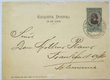 Argentina acorazado (acorazado) San Martin; tarjeta postal a Fráncfort #l601