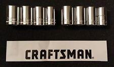 "NEW Craftsman 8 Piece 1/2"" Drive 6 Point Standard Metric Socket Set SAE MM"