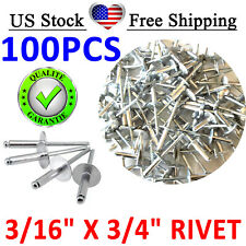 Cheap - POP Rivet ALL Stainless Steel Large Flange 612LF, 3/16 x 3/4 USA, Qty100