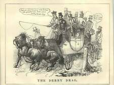1852 The Derby Cabinet Drag Ministers Militia Bill Satire