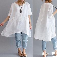 2XL Cotton Oversized Baggy Assymetric Tunic w/Pocket