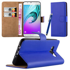 Flip Leather Wallet Book Case Cover Pouch for Various Mobile Phone Screen Guard Samsung Galaxy S5 Blue
