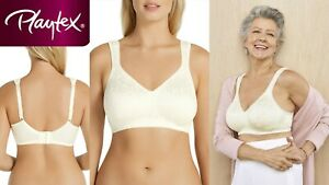 Playtex 18hr WireFree Ultimate Lift Bra Mother Of Pearl P4745 12 14 24 B C DD E