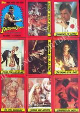 INDIANA JONES TEMPLE OF DOOM MOVIE 1984 TOPPS BASE CARD & STICKER SET OF 88 + 11