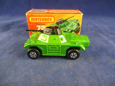Matchbox Superfast MB - 73 b Weasel Armoured car in Light Metallic Green