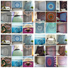 20 Pcs Wholesale Lot India Mandala Assorted Cotton Tapestry Wall Decor Bed Throw