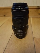 canon zoom lens ef 70-300mm 1:4 -4.6 is USM lens with hood