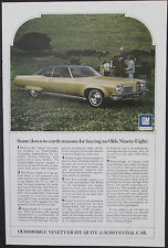 Oldsmobile Ninety-Eight Original 1972 GM  Vintage Ad