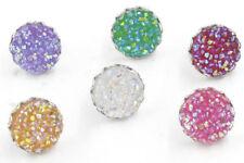 Women's Fashion 12mm 6Colors Druzy Resin Druzy Crystals Crown Stud Earrings