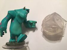 2 Disney Infinity S 1.0 FIGURES SULLY MONSTERS Inc + Mi/INCREDIBLES/POTC CRYSTAL