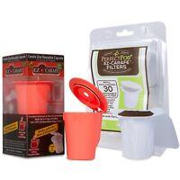 2-Item EZ Carafe Pod Capule + 30Ct Disposable Paper Coffee Filter for Keurig 2.0