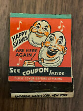 New listing SF4 Vintage Matchbook Cover Mennen Shave Products Newark New Jersey