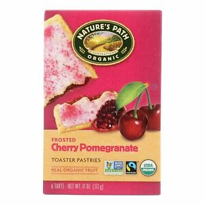 Nature's Path Organic Frosted Toaster Pastries - Cherry Pomegranate - Case Of 12
