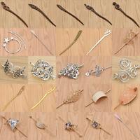 Women Retro Alloy Wood Hair Pin Stick Fork Clip Kanzashi Carved Hair Accessories