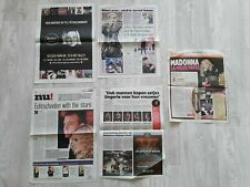 Madonna newspaper pages clipping collection 5 pages RARE
