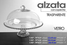 ALZATA CON COPERCHIO TRASPARENTE IN VETRO 20X8CM URP-597633