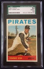 1964 TOPPS TOMMIE SISK PITTSBURGH PIRATES #224--GRADED SGC 92=8.5=NR MINT-MINT+!