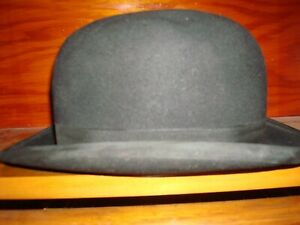 ANTIQUE STETSON HAT~~Mc CUE BROTHERS NEW YORK
